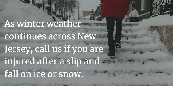 Winter slip and fall claims New Jersey